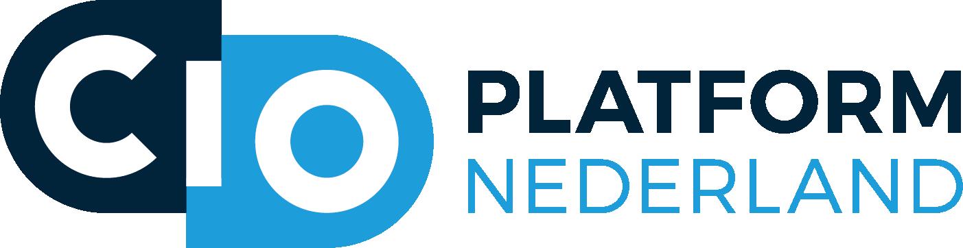 Logo CIO Platform Nederland Hoofdletters CIO in het blauwe met daarachter Platform Nederland