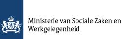 Logo Rijksoverheid met de 2 leeuwen en schild, daarnaast Ministerie van Sociale Zaken en Werkgelegenheid