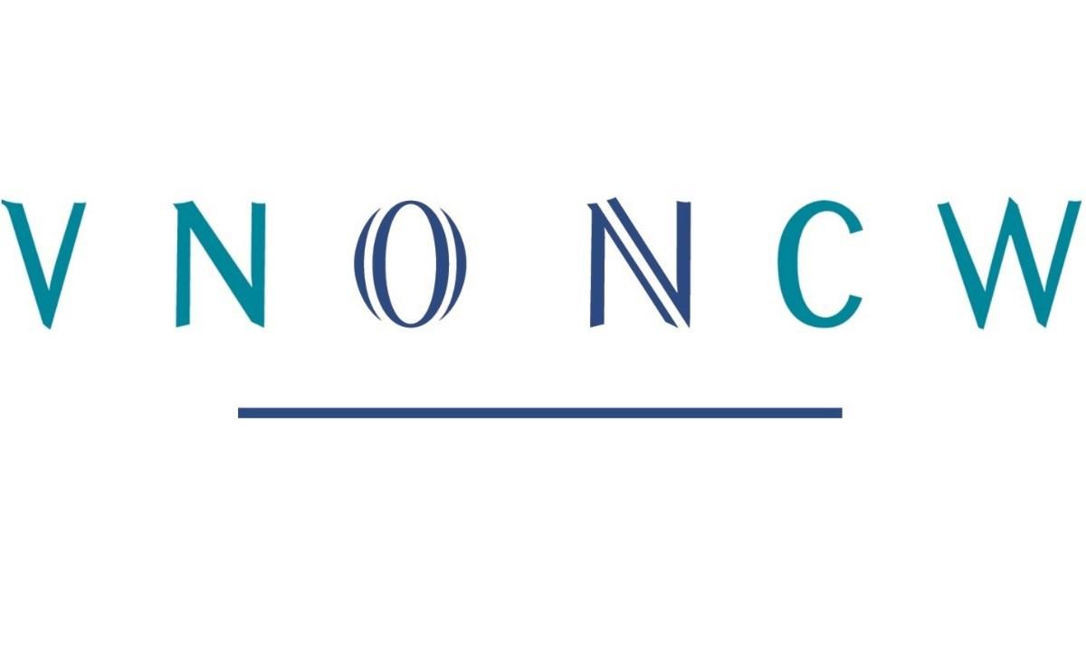 Logo VNO NCW in blauwe-groene hoofdletters